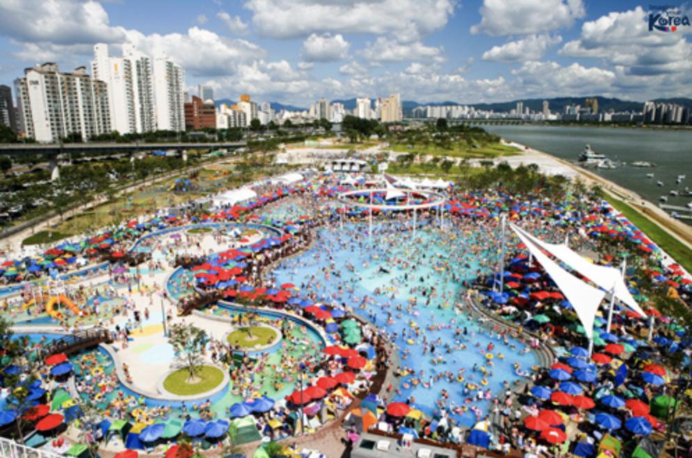 韓国のプール