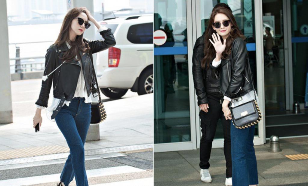 ユナ 空港ファッション