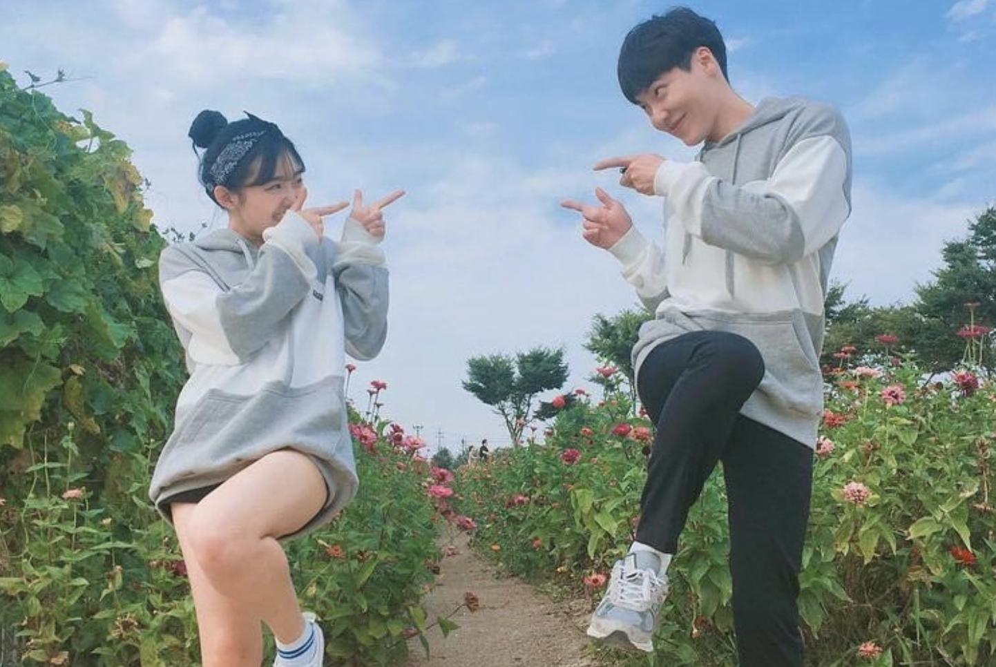 韓国学生カップル